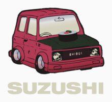 SUZUKI + SUSHI = SUZUSHI! One Piece - Short Sleeve
