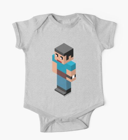 Isometric male person One Piece - Short Sleeve