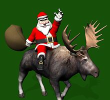 Santa Claus On Moose by Mythos57
