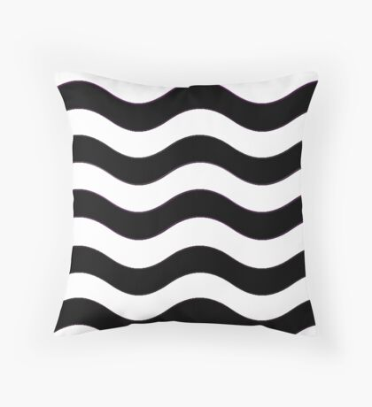 Iskybibblle Boutique Patterns   Black and White Throw Pillow