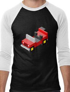 Isometric red off-road car Men's Baseball ¾ T-Shirt