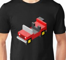 Isometric red off-road car Unisex T-Shirt
