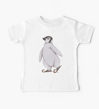Eislaufpinguin - Ice Skating Penguin Baby Tee