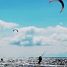 Cruisin' with a Kite: Kitesurfing Sea Landscape by susanwellington
