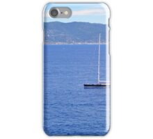 Beautiful natural landscape with threes and the sea in Portofino, Italy iPhone Case/Skin