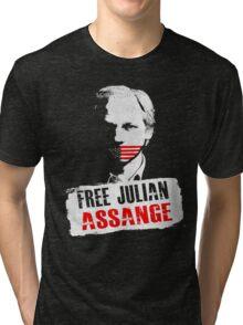 Free Julian Assange Tri-blend T-Shirt