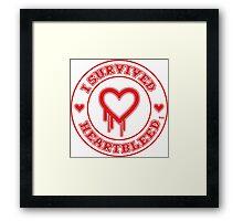 I Survived Heartbleed Framed Print