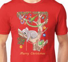 Sleepy Christmas Koala and Lorikeets Unisex T-Shirt