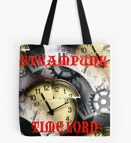 Steampunk Time Lord Tote Bag