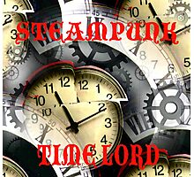 Steampunk Time Lord Photographic Print
