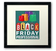 Black Friday Professional Shopping Framed Print