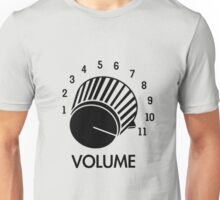 Volume Knob Up To 11 Spinal Tap Inspired Funny Guitar T-Shirt Unisex T-Shirt