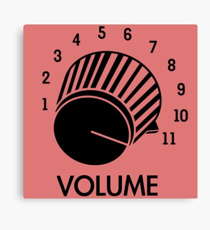 Volume Knob Up To 11 Spinal Tap Inspired Funny Guitar T-Shirt Canvas Print