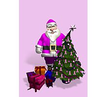 Santa Claus Dressed In Pink Photographic Print