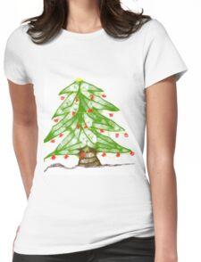 Scribbler Xmas Tree Womens Fitted T-Shirt