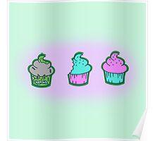 Zombie Cupcake Poster
