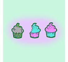 Zombie Cupcake Photographic Print