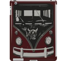 Maroon Camper Van With Emblem Art iPad Case/Skin