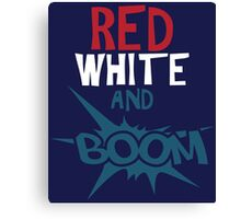 Red White & Boom Cute 4th Of July Canvas Print