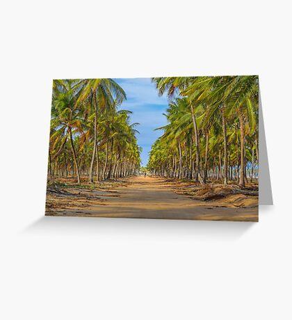Topical Landscape Scene at Porto Galinhas Brazil Greeting Card
