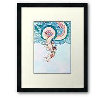 Haku & Chihiro Framed Print