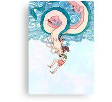 Haku & Chihiro Canvas Print