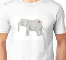 Elephant with a tattoo Unisex T-Shirt