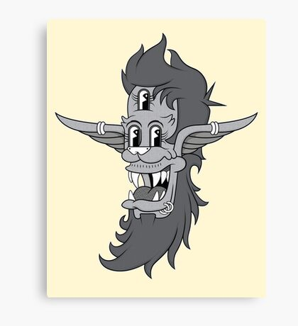 Retro Three-Eyed Elvish Lad Canvas Print