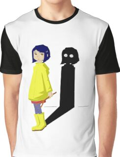 Coraline and the evil shadow Graphic T-Shirt