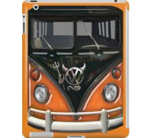 Orange Camper Van With Devil Emblem iPad Case/Skin