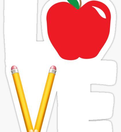 Love Teaching Cute Teacher Appreciation Sticker