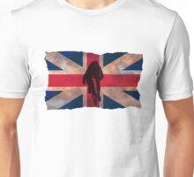 Cycling Sprinter on UK Flag Unisex T-Shirt