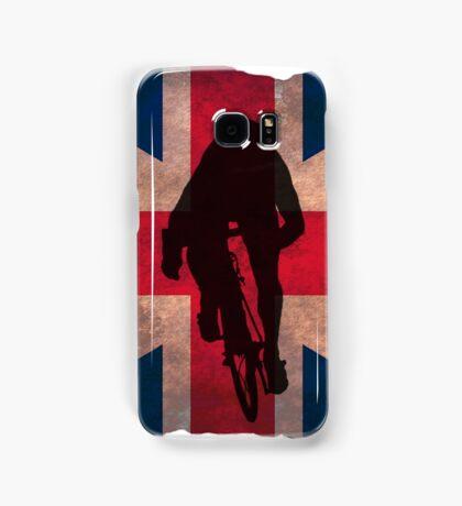 Cycling Sprinter on UK Flag Samsung Galaxy Case/Skin
