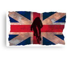 Cycling Sprinter on UK Flag Canvas Print