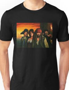 Pirates of the Caribbean Painting Unisex T-Shirt