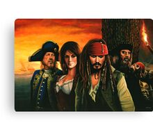 Pirates of the Caribbean Painting Canvas Print