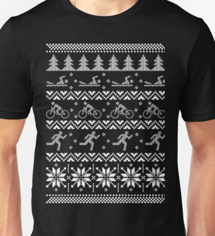 Tri triathlon ugly christmas sweater xmas Unisex T-Shirt
