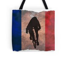 Cycling Sprinter on French Flag Tote Bag