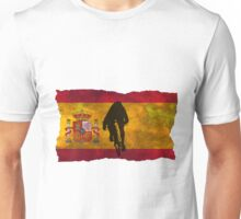 Cycling Sprinter on Spanish Flag Unisex T-Shirt