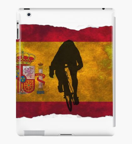 Cycling Sprinter on Spanish Flag iPad Case/Skin