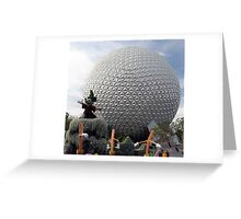 Sorcerer Mickey at Spaceship Earth Greeting Card