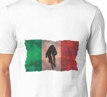 Cycling Sprinter on Italian Flag Unisex T-Shirt