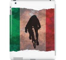 Cycling Sprinter on Italian Flag iPad Case/Skin