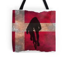 Cycling Sprinter on Denmark Flag Tote Bag