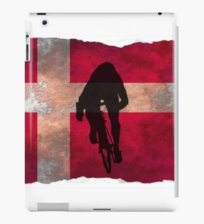Cycling Sprinter on Denmark Flag iPad Case/Skin