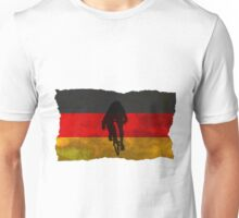 Cycling Sprinter on German Flag Unisex T-Shirt