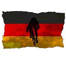 Cycling Sprinter on German Flag Photographic Print