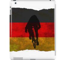 Cycling Sprinter on German Flag iPad Case/Skin