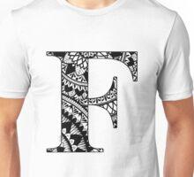 Mandala Letter F Unisex T-Shirt