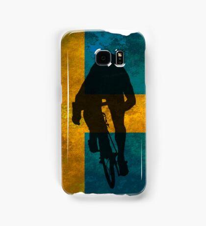 Cycling Sprinter on Swedish Flag Samsung Galaxy Case/Skin